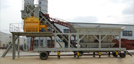 YHZS25 mini mobile concrete plant